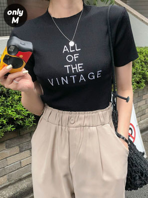 ALL OF THE VINTAGEクロップ丈ニットトップス【ONLY.M】